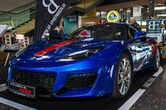 跑车莲花埃武拉400由BF Motorsport设计的艾塞克斯, 2016年 库存图片