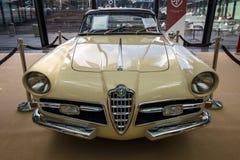 跑车阿尔法・罗密欧1900C超级Sprint小轿车卢加诺, 1957年 库存照片
