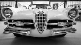 跑车阿尔法・罗密欧1900C超级Sprint小轿车卢加诺, 1957年 免版税库存图片