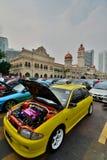 跑车陈列在独立报广场 吉隆坡 马来西亚 免版税库存图片