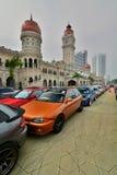 跑车陈列在独立报广场 吉隆坡 马来西亚 库存图片