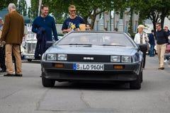 跑车DeLorean DMC-12 免版税库存照片