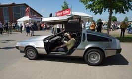 跑车DeLorean DMC-12 库存图片