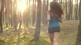 跑通过树 影视素材