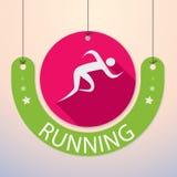 跑, Sprint,马拉松-五颜六色的体育象 库存例证