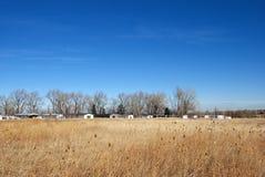 距离公园拖车 图库摄影
