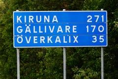距离到瑞典镇 库存照片