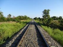 距离铁路后退顶视图 库存照片