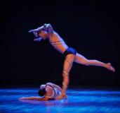 跟斗差事到迷宫现代舞蹈舞蹈动作设计者玛莎・葛兰姆里 库存图片