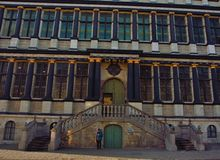 跟特古城大厅的细节  库存照片