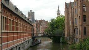跟特市视图,比利时, 4k 股票录像