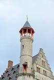 跟特,比利时的历史中心建筑学  免版税库存照片