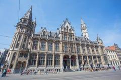 跟特,比利时的市中心 免版税库存照片