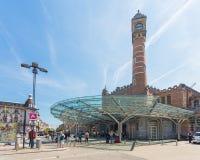 跟特,比利时的火车站 库存图片
