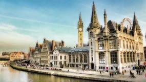 跟特,比利时,欧洲 免版税图库摄影