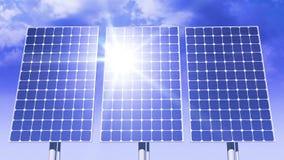 跟踪太阳的太阳电池板 定期流逝 HD 1080 股票视频