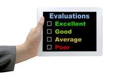 跟踪核对清单评估性能 免版税库存照片