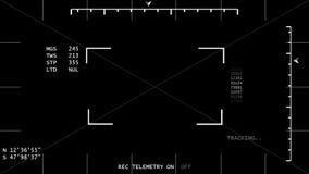 跟踪模板的夜视 库存例证