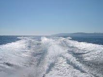 跟踪水 免版税库存图片