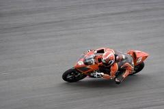 跟踪的摩托车竟赛者 库存图片