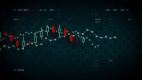 跟踪蓝色的财务数据 向量例证