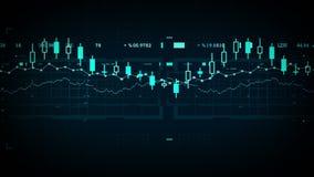 跟踪蓝色的财务数据 库存例证
