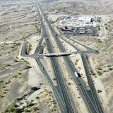 跨境亚利桑那的沙漠 图库摄影