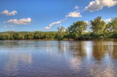 跨境国家公园位于圣Croix河由Taylo 图库摄影