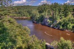 跨境国家公园位于圣Croix河由Taylo 免版税库存图片