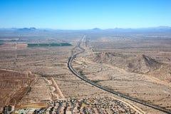 跨境10在状态路线85 免版税图库摄影