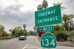 跨境134高速公路 库存照片
