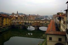 跨接佛罗伦萨老意大利 库存照片