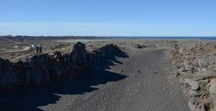 跨接在大陆冰岛之间 库存照片