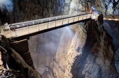 跨接在Skocjan洞,一个UNESCO's自然和cultura里面 库存图片