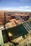 跨接峡谷水坝幽谷 库存图片