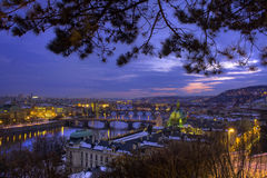 跨接捷克布拉格共和国 库存照片
