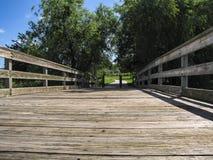 跨接木的公园 库存照片