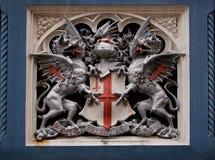跨接纹章学伦敦符号塔 图库摄影