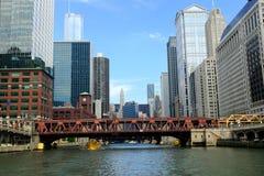 跨接芝加哥 库存图片