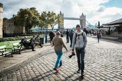 跨接英国伦敦塔 图库摄影
