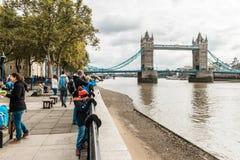 跨接英国伦敦塔 免版税库存照片