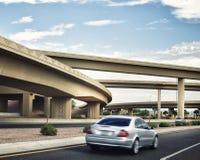 跨接跨境的高速公路 库存图片