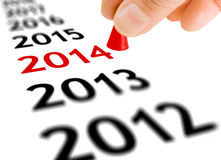 跨步入新年 免版税图库摄影