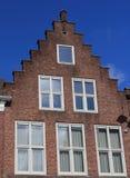 跨步的山墙房子 免版税库存照片