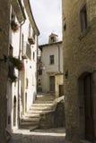 跨步的街道村庄 免版税库存图片