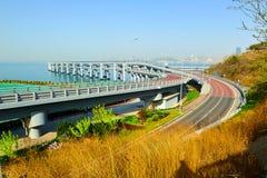 跨海桥梁 免版税图库摄影