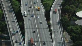 跨线桥的看法从小游艇船坞海湾屋顶的铺沙新加坡 影视素材