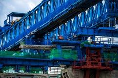 跨线桥的建筑 图库摄影