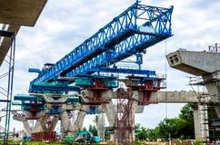 跨线桥的建筑 免版税库存照片