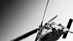 跨线桥直升机军人我们 免版税库存照片